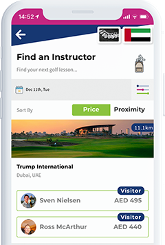 compare golf lessons on the spikeson.com app screenshot