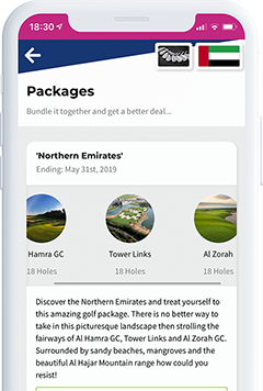 buy golf packages on the spikeson.com app screenshot