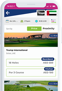compare tee times on the spikeson.com app screenshot